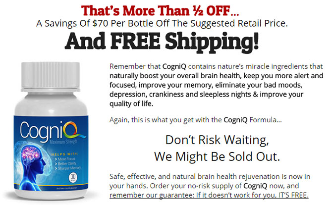 CogniQ Brain supplement trial