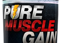 pure muscle gain bottle
