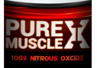 pure muscle x supplement bottle