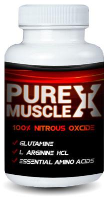pure muscle x supplement bottle