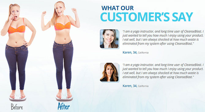 cleanse blast before after