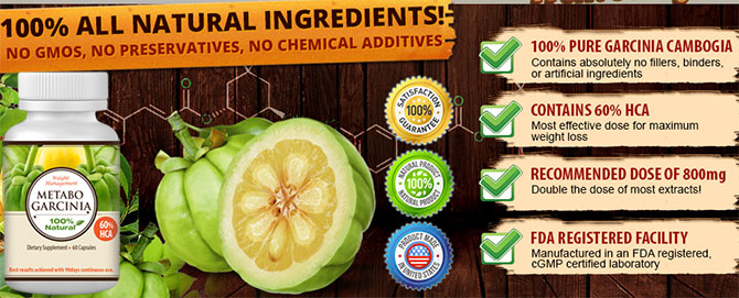 Metabo Garcinia trial ingredients