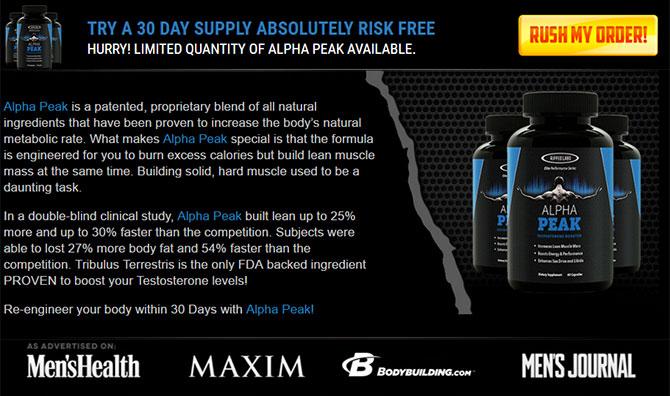 alpha peak free trial