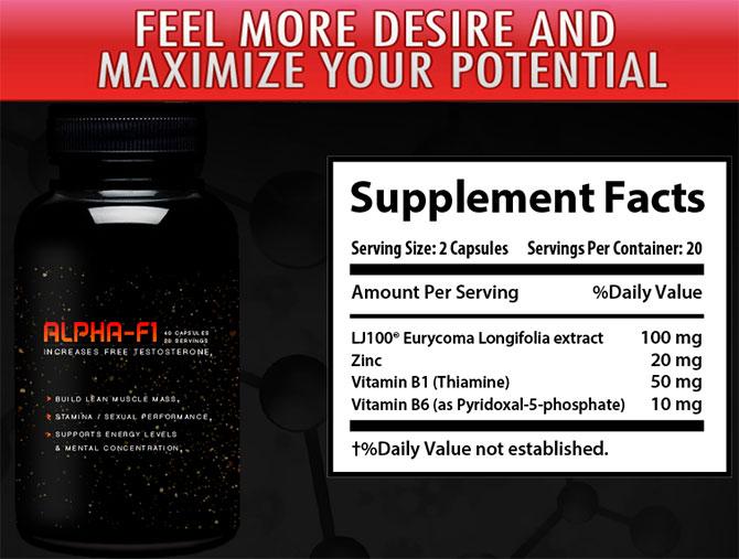 alpha f1 supplement facts